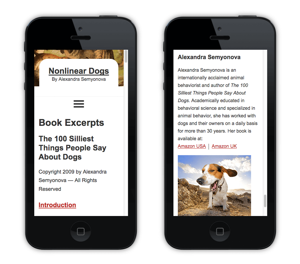 animal behaviorist and author mobile design