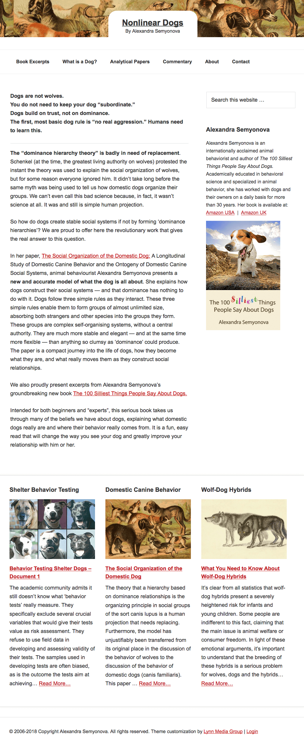 animal behaviorist and author website design