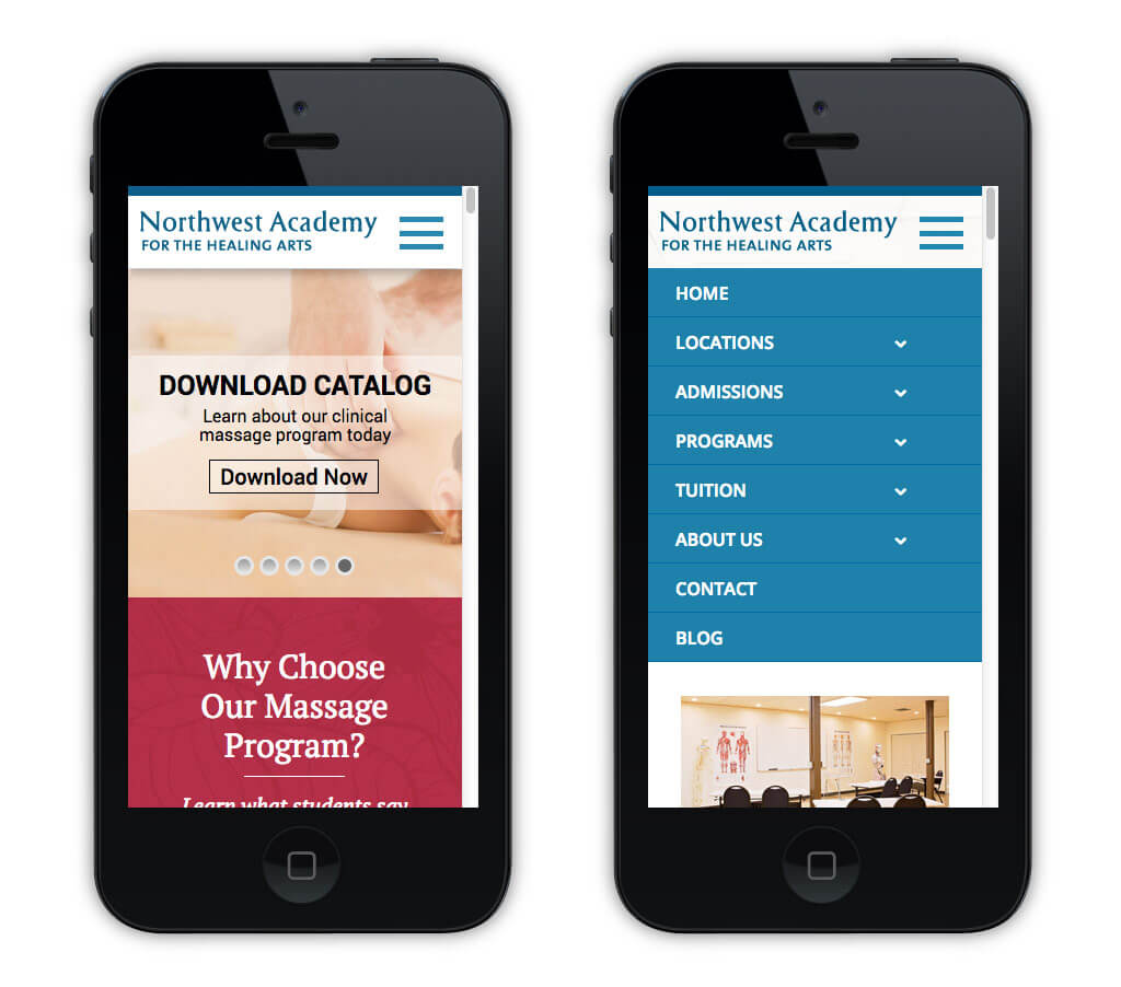 Northwest Academy – Mobile Home Page