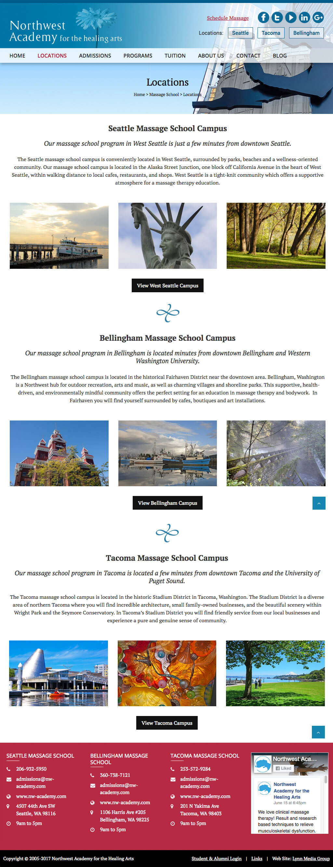 Web Design - Massage School