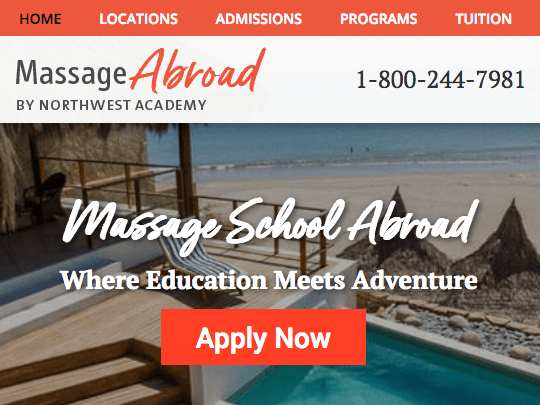 education abroad program website design